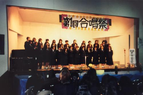 生徒の要望により合唱祭開始